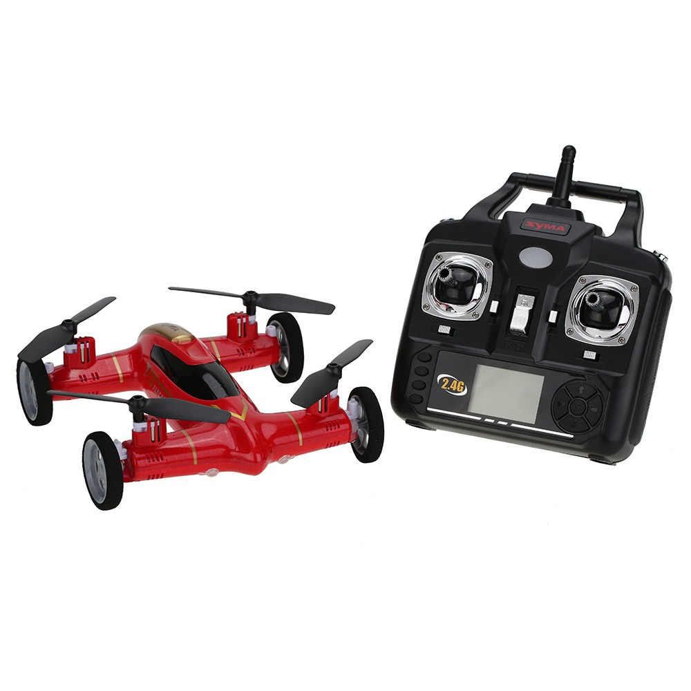 Original Syma X9 2.4G 4CH 6-Axis Gyro RC Quadcopter Air-Gronud Flying Car with 360 Degree Flips Function Drone