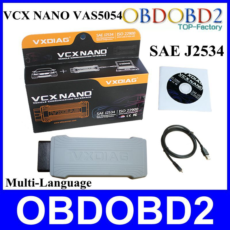 New VXDIAG VCX NANO Professional Diagnostic Tool Multi-language ODIS V2.2.4 SAE J2534 Allscanner Works VAG Series/For Bentley/(China (Mainland))