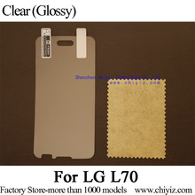 2x Clear Glossy LCD Screen Protector Guard Cover Film Shield For LG L70 D320 D320N