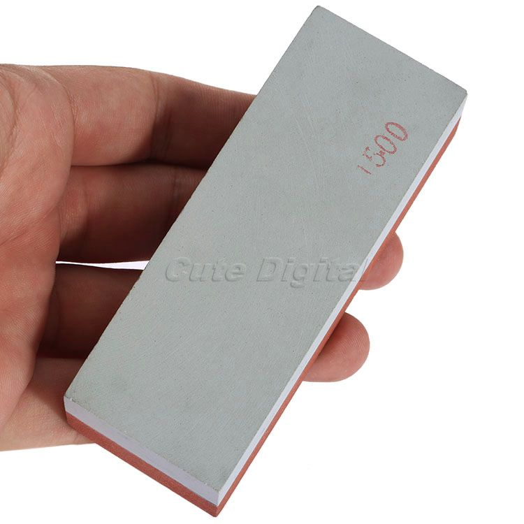 Kitchen Knife Sharpening Stones Razor Cutter Sharpener Polishing Whetstone Grindstone Sharpening 400# 1500# Two Side Combination(China (Mainland))