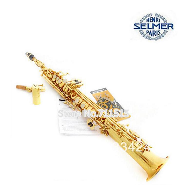 YAS-475 Brand Selmer Saxophone Alto Sax E Flat Gold Lacquer Brass Carve Pattern Eb Saxofone Falling Tune (F) - sax lovers store