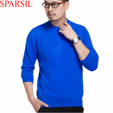 Sparsil Men's Winter&Autumn Cashmere Blend Sweater Warm Pullover Male O-Neck Knitted Soft Knittwear With 13 Colors S-XXL(China (Mainland))
