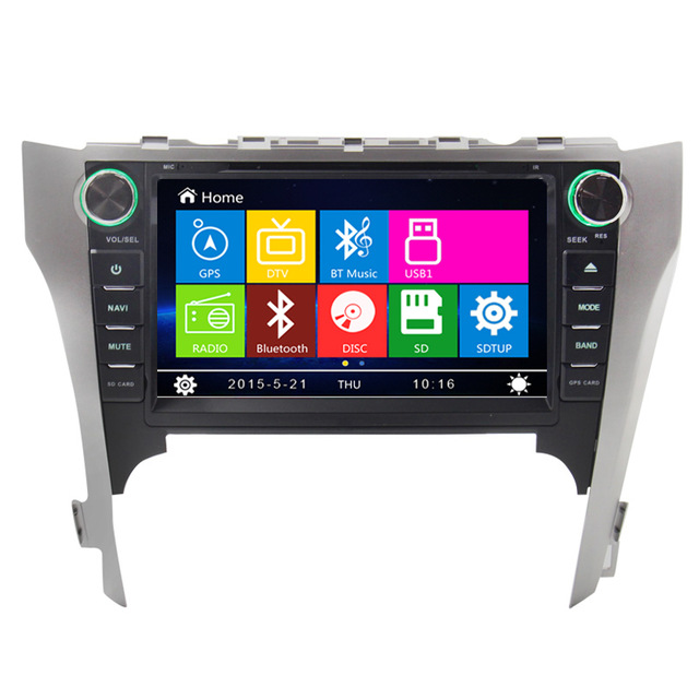 8 inch Car DVD Player Radio GPS Navigation System stereo For Toyota Camry 2012 with Bluethooth free Map SWC(China (Mainland))