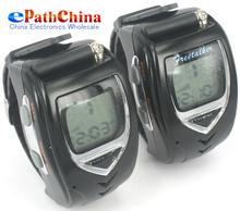 Pair Two Way Radio Intercom Digital Mobile Walkie Talkie Wrist Watch Backlit Interphone Transceiver