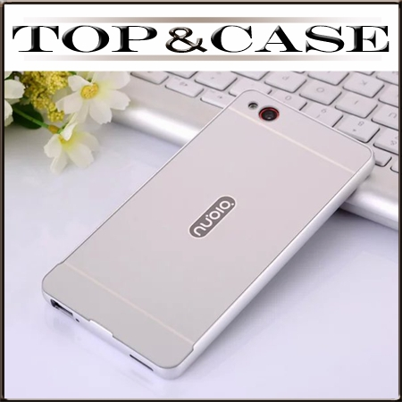 Luxury PC back cover case luxury aluminum metal frame Phone Cases Covers For ZTE Nubia Z9 Mini SJ1002(China (Mainland))