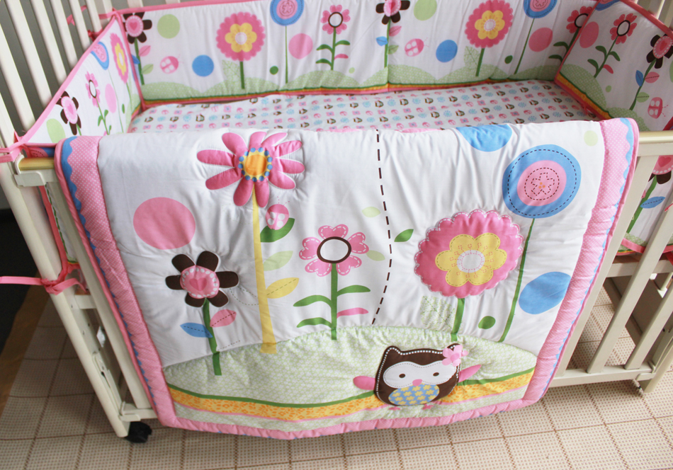 Promotion! 7PCS embroidery cot baby bedding set for boys bedding set baby crib bumper ,include(bumper+duvet+bed cover+bed skirt)<br><br>Aliexpress