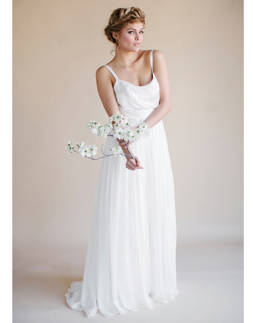 Plus size long robe mariage 2016 simple summer bohemian for Beach wedding dresses for plus size