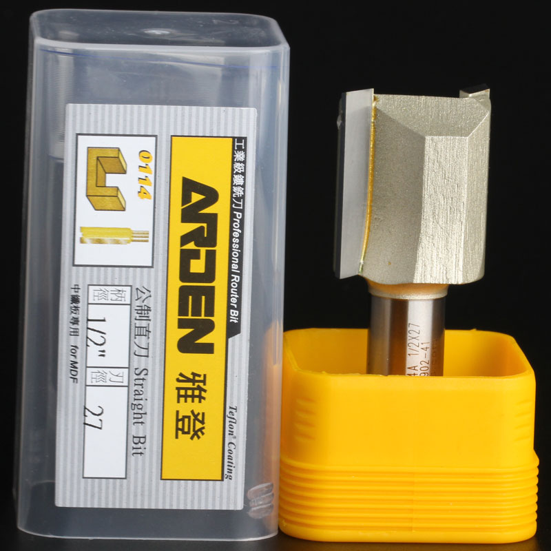 """fresas para router Woodworking Tools Metric Flute Straight Bit Arden Router Bits - 1/2*27mm - 1/2"""" Shank - Arden A0114558(China (Mainland))"""