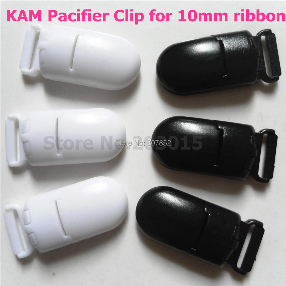 2 color 50Pcs Plastic Clips For Pacifier Soother/ Dummy / Nuk / MAM/ Bib / Toy Holder /Suspender Tape width: 10mm(China (Mainland))