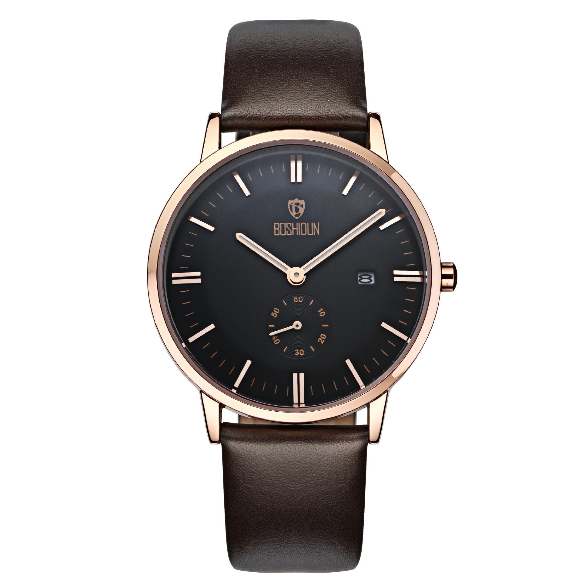 BOSHIDUN Swiss watch Mens belt quartz watch waterproof luxury watch brands wholesale<br><br>Aliexpress