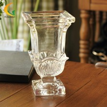 Home Wedding Decor High-end European carved tall crystal vase floral style water glass vase Hydroponic(China (Mainland))