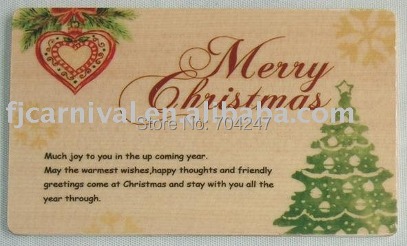 Christmas greeting card/ wood gift card/ unique gift/ factory price/ best design/ best gift for holiday/ delicate gift card
