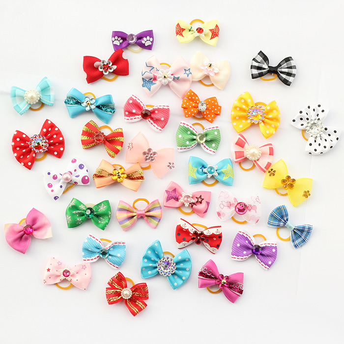 20 Pcs Armi store Handmade Pet Grooming Accessories Products Dog Bow 11026 Hair Little Flower Bows For Dogs Charms Gift(China (Mainland))