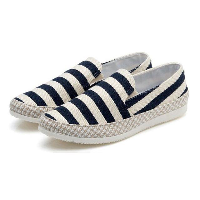 Мужчины квартиры обувь летняя парусиновые туфли эспадрильи свободного покроя обувь ...