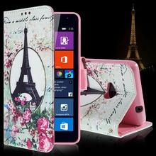 Роскошный сумка для Microsoft Lumia 535 мультфильм держателя карты кожаный бумажник флип-крышкой для Nokia N 535 Lumia стелька тпу чехол