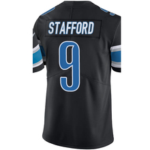 Embroidery Men's #20 Barry Sanders #9 Matthew Stafford Jersey Adult Black Rush Limited Stafford Sanders Jersey Fast Free Shippin(China (Mainland))