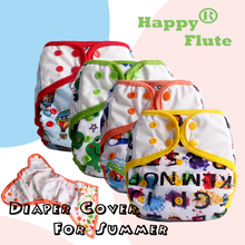 2015 new design! Happy Flute 1 pcs color-edged diaper cover free shipping(China (Mainland))