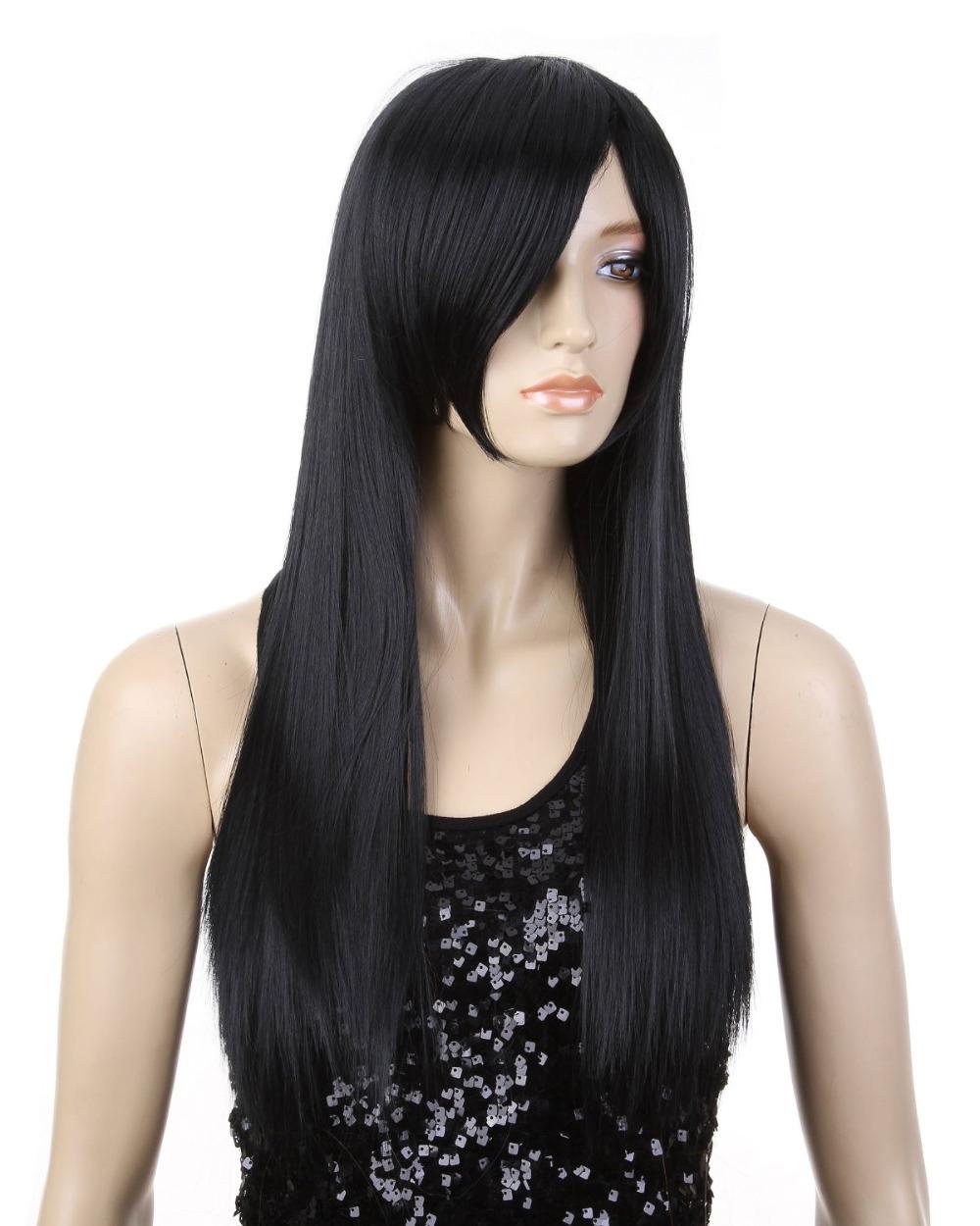 Гаджет  WigsLove Black  Long ONE PIECE-Boa Hankokku Black Cosplay Costume Wig None Волосы и аксессуары