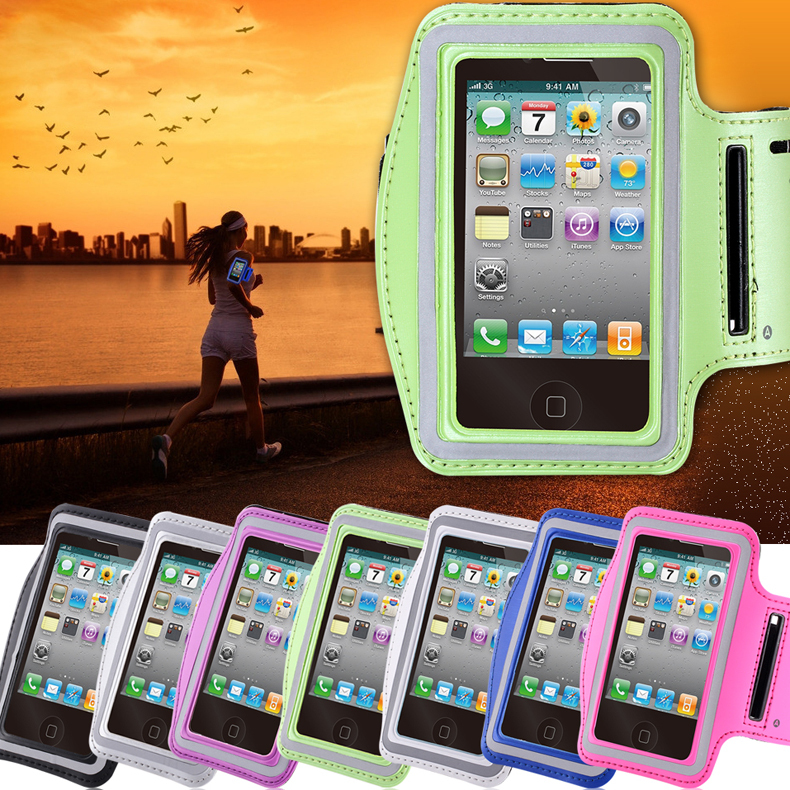 Waterproof Sports Running Armband Saturn Leather Case For iphone 4 4S 4G Mobile Phone Holder Pounch Belt GYM Fashion Arm Band