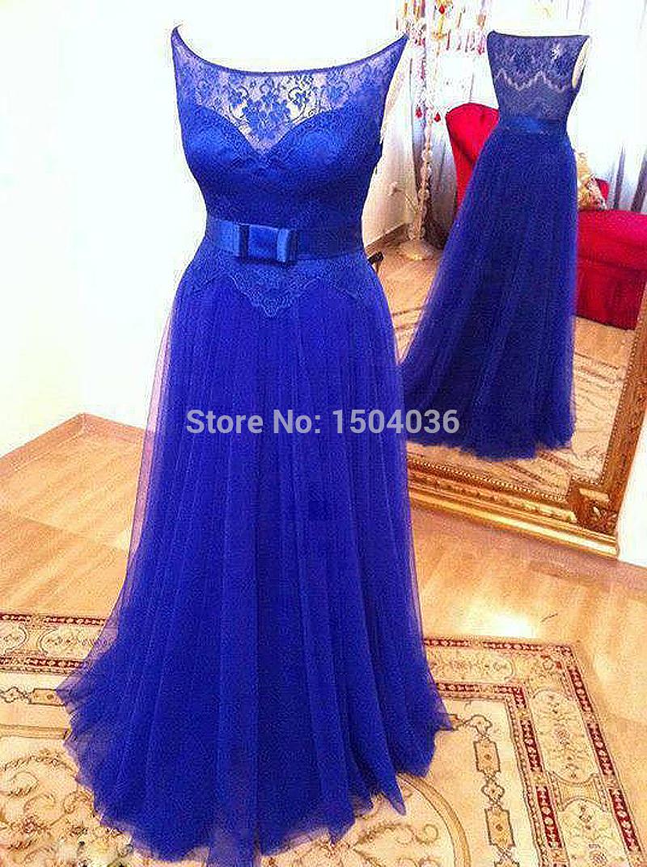 Elegant formal prom dresses 2015 real pictures royal blue for Royal blue plus size wedding dresses