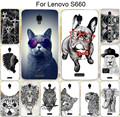 Hot Sale Cool Animal Owl Lion Cat Giraffe Parrot Cartoon Pug PC Painted Case For Lenovo