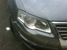 Неокрашенный стеклопластик фар брови веки чехлы для 2006-2010 VW Volkswagen Passat B6 тип B