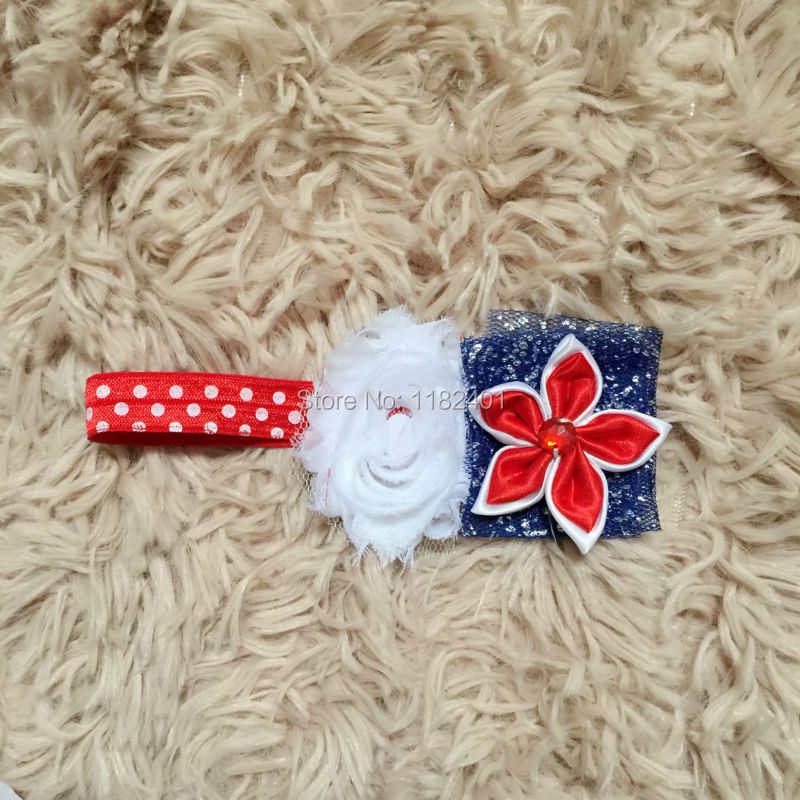 America Flag Headbands 4th july Girls Dot FOE Headbnd Children Patriots' Day Baby Flower 8 - Fancy E-Commerce Firm store