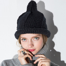 EAST KNITTING New Fashion Autumn Winter Hand Made Thick Line Knitted Hats For Women Womens Beanies Hat Winter Cap(China (Mainland))