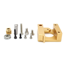 Free Shipping Left 3D Printer Accessories MK8 Extruder AluminumBblock DIY Kit Makerbot Dedicated Single Nozzle Extrusion