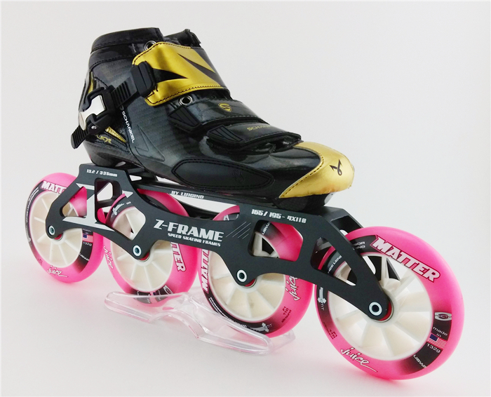 High Quality Carbon Fiber Speed Skating Shoes, Inline Speed Skates quad roller skates Roller skates With 4 Wheels Patins(China (Mainland))