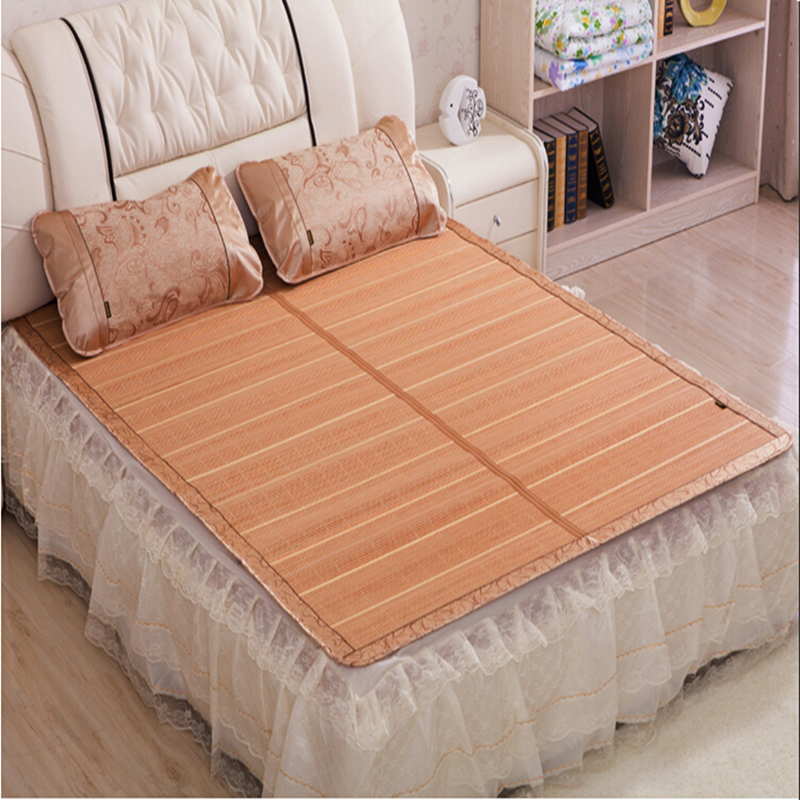 2016 new chinese bamboo bed mattress floor mat queen size summer folderable rattan mat folding Queen size mattress price