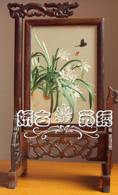 Suzhou embroidery, special present, plant orchid, elegant decoration, adornment admire those who play article(China (Mainland))