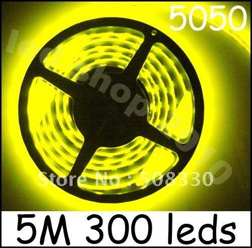 Wholesale Led Strip led lighting 5050 15m warm W led Flexible LED Strip,60led /m,300 leds NO-Waterproof Freeshipping by Fedex