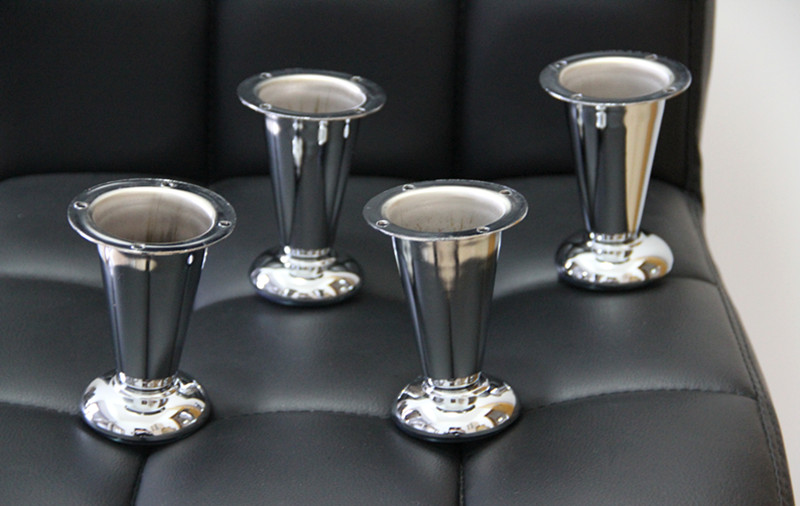 4 39 39 Metal Chrome Taper Furniture Sofa Leg 4pcs Modern Wardrobe Replacement Feet In Furniture