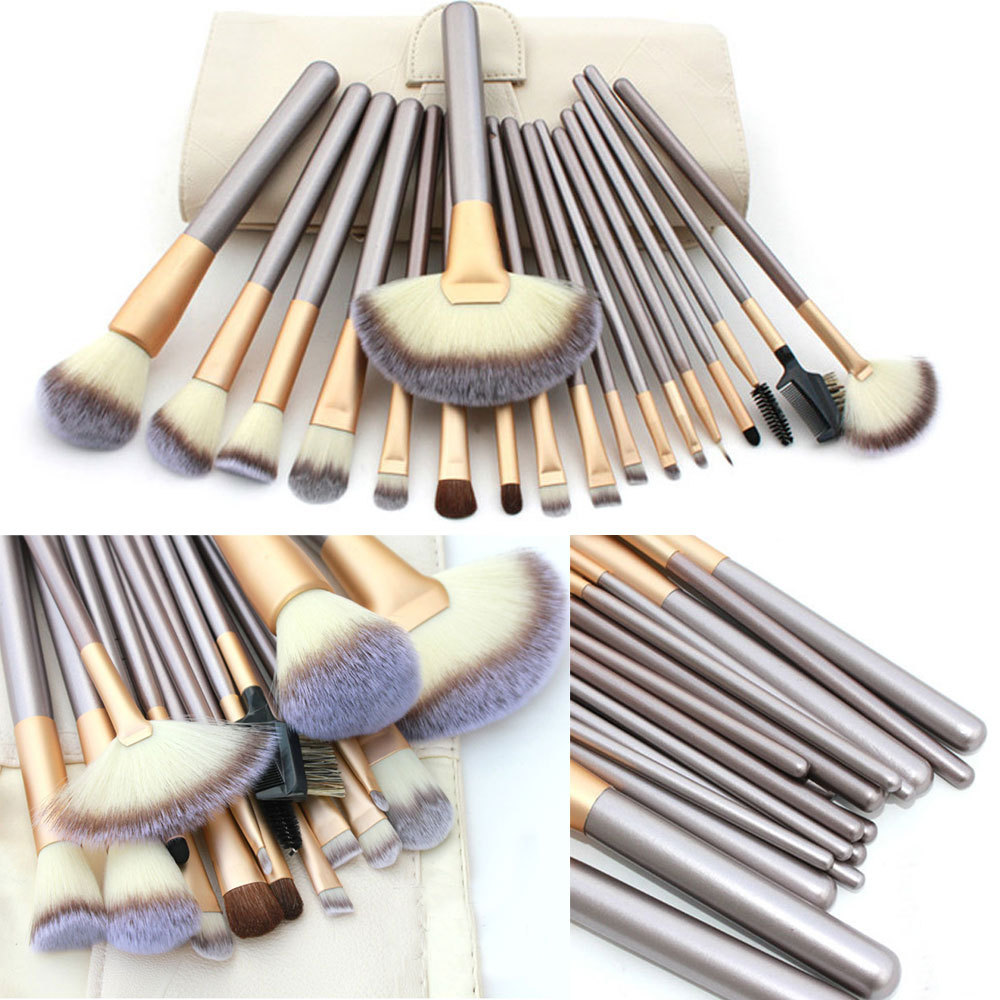 New Coming 18 Pcs/kits Professional Cosmetic Makeup Brush Set Foundation Powder Eyeliner Brushes Free Shipping(China (Mainland))