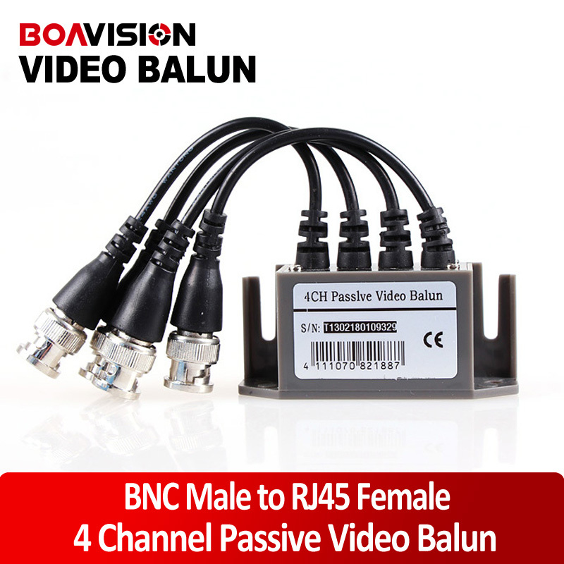 4CH Passive Video Balun Transceiver for CCTV(China (Mainland))