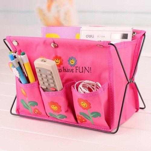 Lot 5pcs Fabric Foldable Pen Bag Storage Box Make Up Cosmetic Organizer Case(China (Mainland))