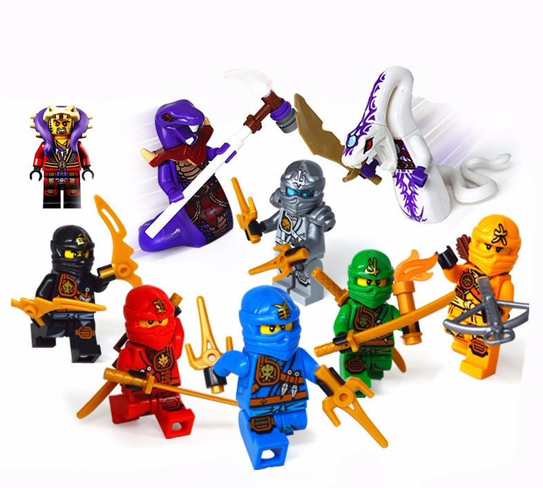 Decool 0077-0085 Compatible Legoes Ninjagoes Kai Jay Cole Lloyd Skylor Master Chen Minifigures Weapon Building Blocks Ninja  -  COASTLINE TOY store
