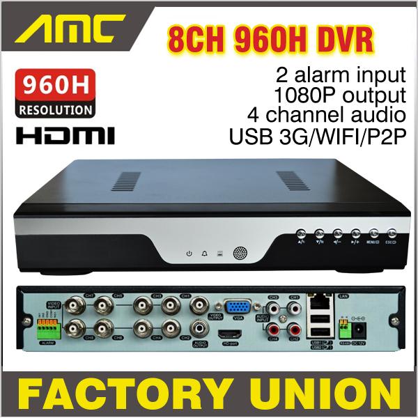 2015 New CCTV 8ch 960h DVR H.264 Recorder 8 Channel Full D1 CCTV DVR 8 CH 1080P NVR Network Video Recorder Surveillance Camera(China (Mainland))