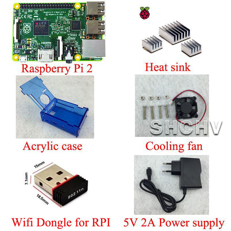Потребительская электроника RPI pi 2 b + + pi 2 + WIFI + 5V 2A 2 model B 250m extend poe kit for 4x raspberry pi b b 2 3 micro usb 5v 2 4a switch 4 poe