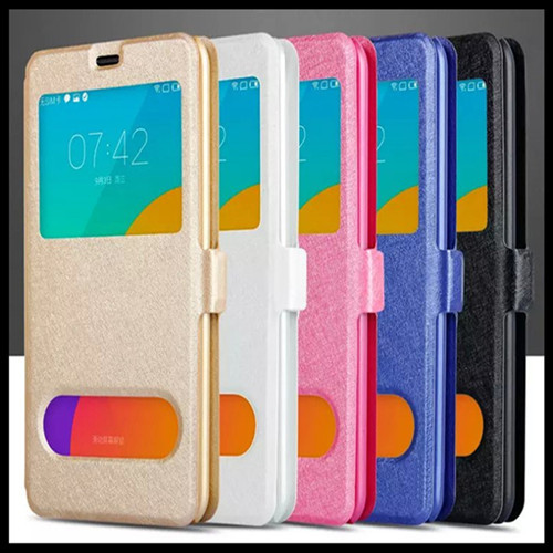 High quality PU leather double window silk grain cell phone holster Case For Apple iphone 5 5G 5S iphone5s Case Free shipping(China (Mainland))