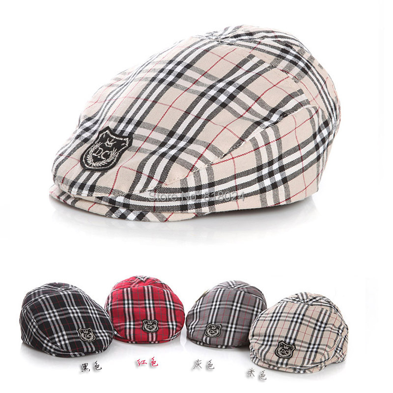 (20 Colors)Spring Autumn Cute Plaid Kid Toddler Infant Boy's Baby Girls Hat Casquette Peaked Baseball Beret Cap for 3-36M(China (Mainland))