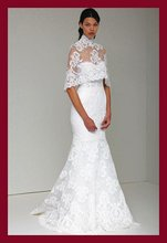 Free shipping online wholesale&retail lace wedding dress of Monique Lhuillie spring 2011 collection ARIELLE(China (Mainland))