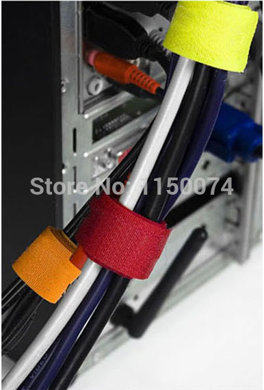 20pcs Colorful Magic PC TV Computer Electrical Wire Cable Manager Winder Velcro Tie Organizer Holder Wrap
