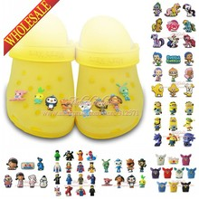 Mix Models,6-8pcs High Quality Cool Lovely Cartoon PVC shoe charms /shoe accessories for Wristbands,Fit cor croc jibz,Party Gift(China (Mainland))