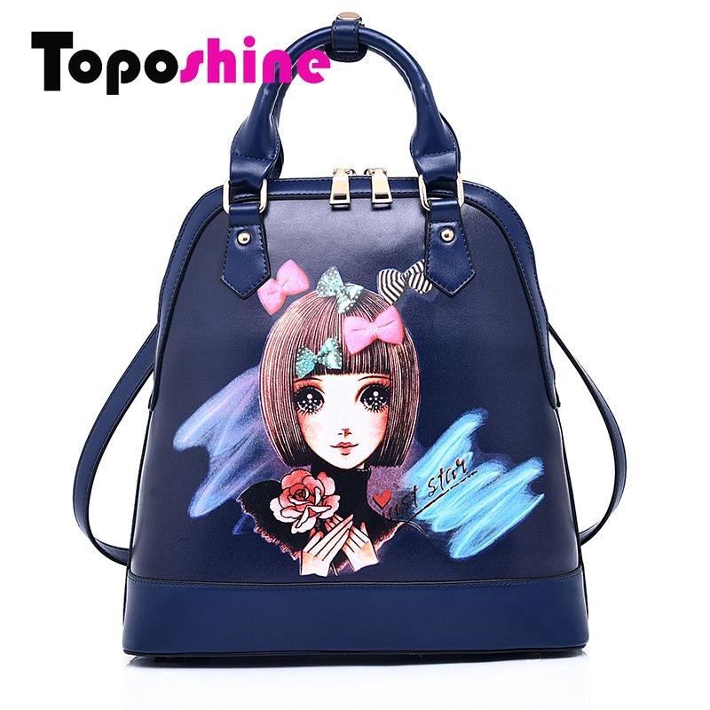 Portable Design 2015 Women Backpack Fashion Cute Backpacks Japan and Korean Schoolbag With Cartoon Beautiful Girl SD-8006(China (Mainland))