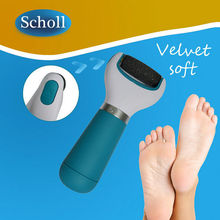 Scholl Set – Velvet Smooth Express Pedi Electronic Foot File Professional Feet Care + 2 Replacement Roller Heads