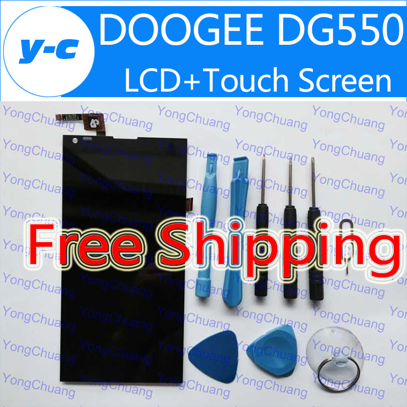 DOOGEE DG550 Screen 100% New Original LCD Display Screen+Touch Screen Assembly Replacement For Doogee Dagger DG550 5.5'' phone(China (Mainland))