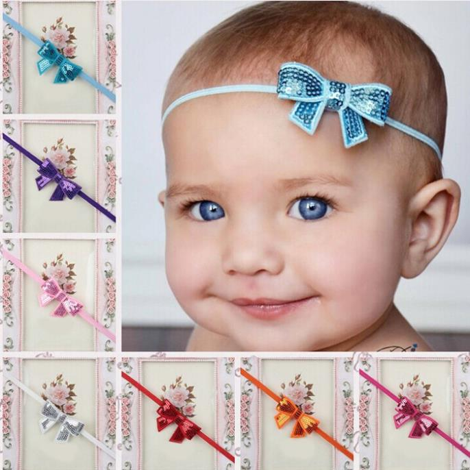 Lovely Baby Girl Sequins Bowknot Toddler Hair Accessory Headbands Hair band(China (Mainland))
