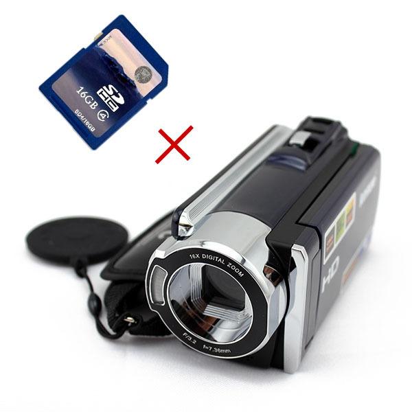"""1080P Full HD 16X Digital Zoom Camcorder 3"""" 270 TFT LCD DV Max 16MP Digital Video Camera Recorder + 16GB SD Card Memory Card(China (Mainland))"""